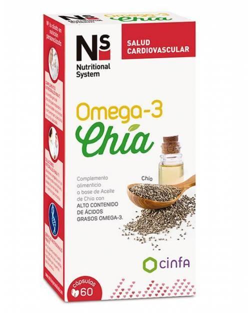 Ns Omega 3 Chía 60 Cápsulas