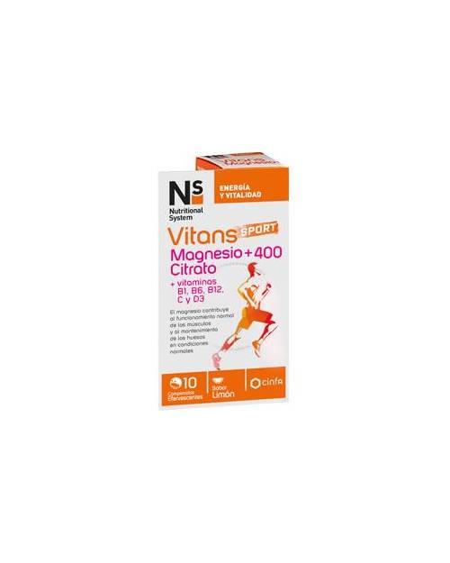 Ns Vitans MagnesioCitrato +400 10 Comprimidos
